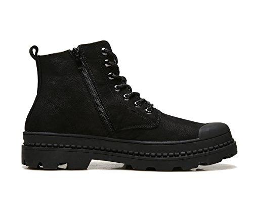 ICEGREY Herren Leder Stiefeletten Chukka Stiefel Winter Boots Schwarz EU 38