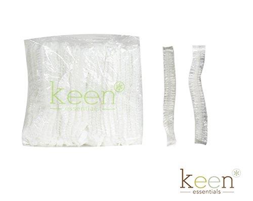 KEEN Shower Cap, Clear Cap, disposal cap, Hair Cap, 1000 pcs per carton (One Carton)