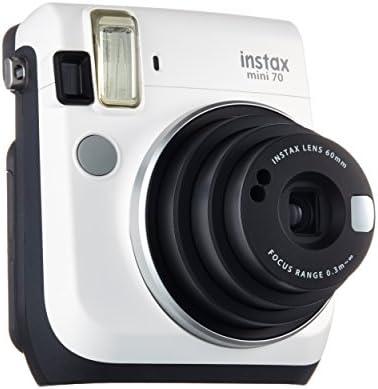 Fujifilm Instax Mini 70 - Cámara Analógica Instantánea (ISO 800, 0.37X, 60 mm, 1:12.7, Flash Automático, Modo Autorretrato, Exposición Automática, Temporizador, Modo Macro), Blanco Luna: Amazon.es: Electrónica