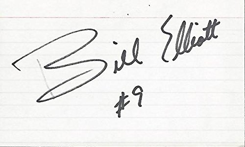 Autographed Bill Elliott Picture - Racing 3x5 Inch Index Card - Beckett Authentication - NASCAR Cut Signatures