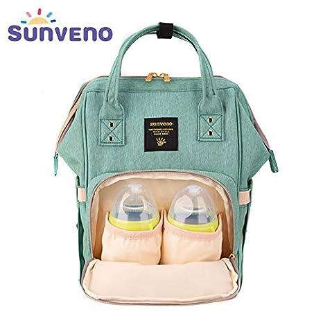 Sunveno impermeable Multifunción Bolsas de pañal para bebés cambiantes Mummy maternidad mochila Con aislamiento de bolsillo