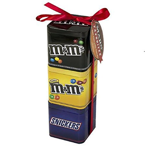 Peanuts Gift Tin (M&M's Mars Holiday 3 Pack Gift Tin Snickers and M&M's)