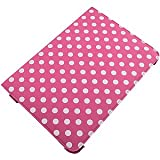 360 Degree Folio Stand Case Samsung Galaxy Note 10.1 White Dots Hot Pink