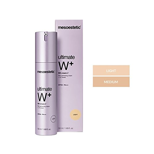 Ultimate W+ BB Cream - Medium Tone - SPF 50 High Protection UVA & UVB - Anti Aging - Anti Wrinkle Cream by Mesoestetic