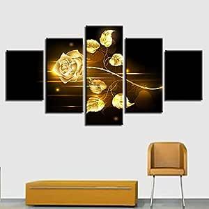 BBQBQ Pintura Decorativa, Casa Dormitorio Multi-Flor Rosa ...