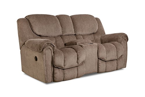 Dual Rocking Reclining Loveseat - Emery Manual Rocking Reclining Loveseat with Console