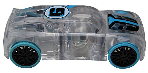 Award Winning Marble Racers Light Up 1:43 Scale Race Car with Quick Shot Pull-Back Motor with Blue Wheels -