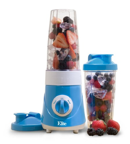 Elite Cuisine EPB-2572BL Maxi-Matic Personal Drink Mixer with Two 28-Ounce Travel Mugs, Blue by Elite Cuisine