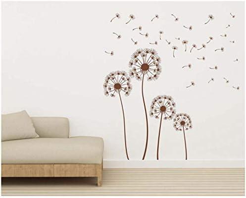 Details about  /Wall Sticker Dandelion Blow Flower Vinyl Mural Decal Decor ZX1053