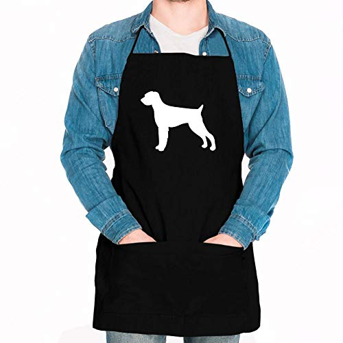 Idakoos German Wirehaired Pointer SILHOUETTE Apron 24