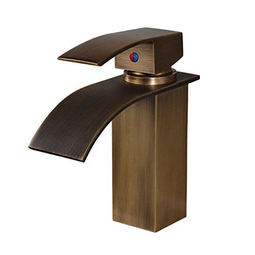 Rozin Antique Brass Single Lever Bathroom Sink Faucet Vanity Basin Mixer Tap