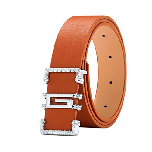 - Start_wuvi Unisex Skinny Lmitation Leather Belt Solid Color Pin Buckle Simple Belts (brown)
