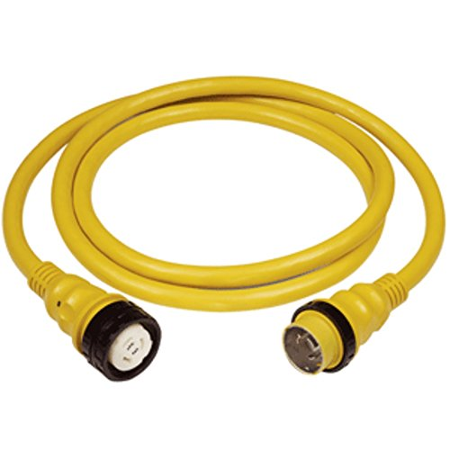 Marinco 50Amp 125/250V Shore Power Cable - 50 - Yellow Marine , Boating Equipment (250v Shore Power Cable)