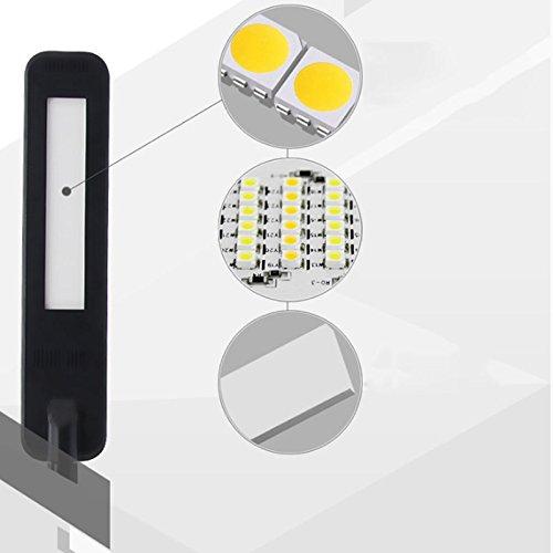 TENDA.FEI LED Lámpara de Escritorio Protección Ocular Sin luz estroboscópica Deslizante Atenuación Bimetálica Polo ABS Material Trabajo de Aprendizaje del ...