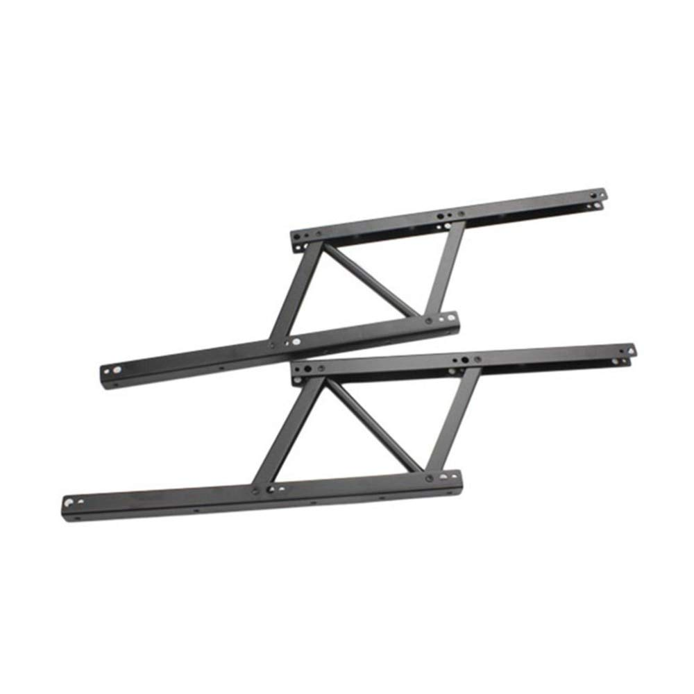 HeroStore 1 Pair Lift Up Top Coffee Table Lifting Frame Mechanism Hinge Hardware Fitting with Spring Folding Standing Desk Frame