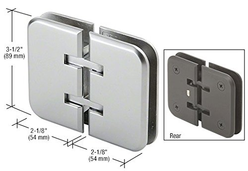 CRL Estate 180 Series Satin Chrome 180176; Glass-to-Glass Hinge by C.R. Laurence