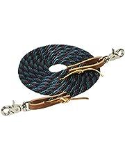 Weaver Leather Poly Roper Rein, 3/8-Inch x 8-Feet, Black