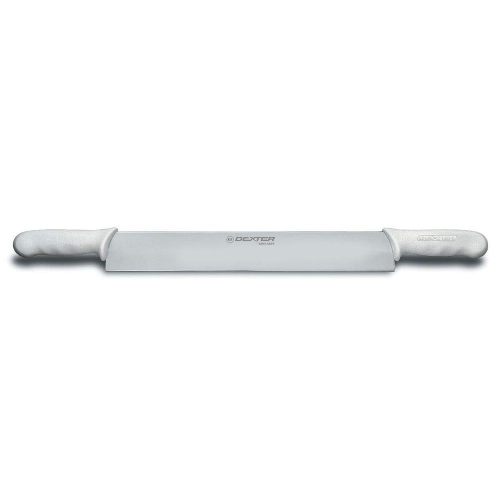 Sani-Safe S118-14DH 14'' Double Polypropylene HandleCheese Knife with Polypropylene Handle