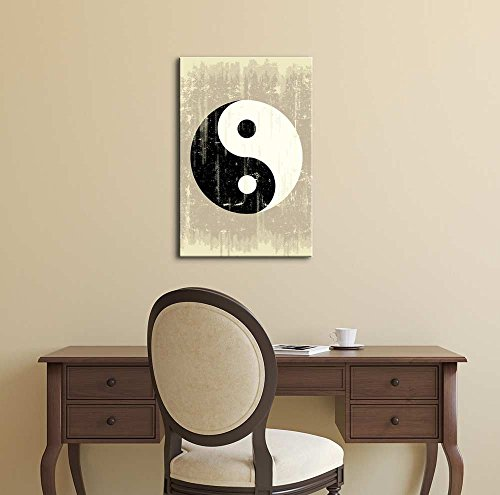A Grunge Background with a Yin Yang Symbol for a Publicity