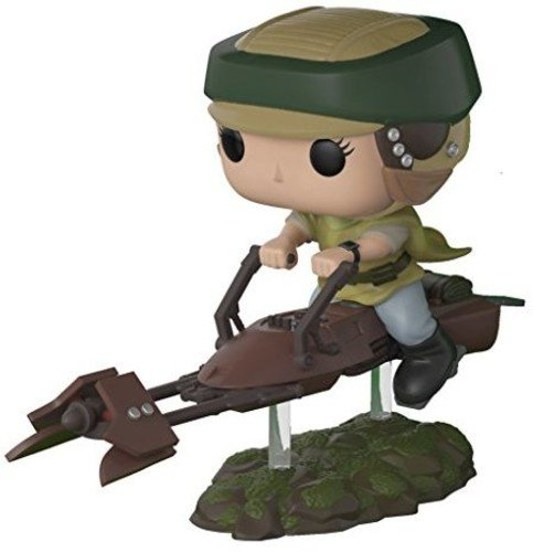 Funko Pop Deluxe: Leia on Speeder Bike Collectible Vinyl Figure (Styles May Vary) (Princess Leia / Luke Skywalker)