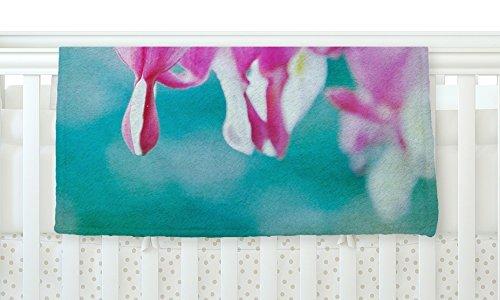 KESS InHouse Iris Lehnhardt Dicentra Teal Pink Fleece Baby Blanket 40 x 30 [並行輸入品]   B077ZVVN9Y