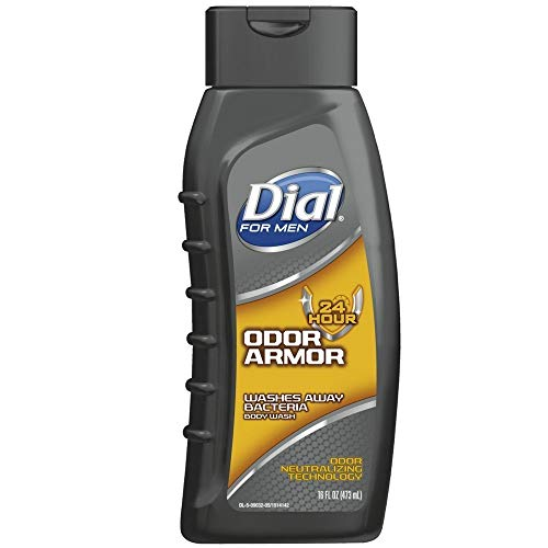 Dial For Men Antibacterial Body Wash, Odor Armor 16 oz (Pack of 6)