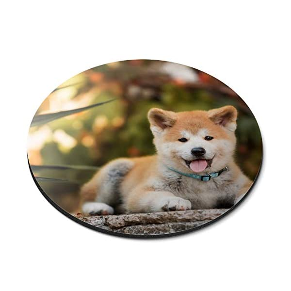 Round Mouse Mat - Japanese Akita Inu Puppy Dog Office Gift - RM15710 1