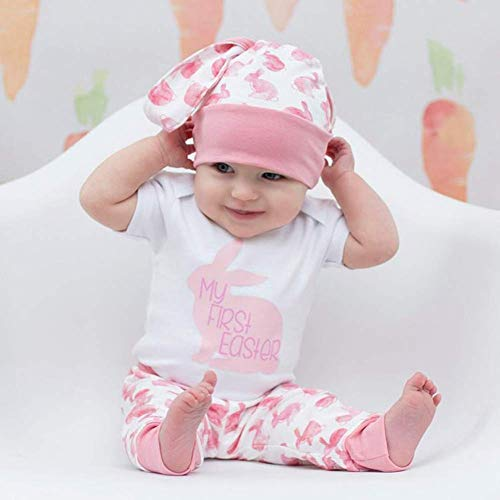 adf0dda97 My 1st Easter Newborn Baby Boy Girl Outfits Rabbit Romper Top+Cartoon 3D  Bunny Ears