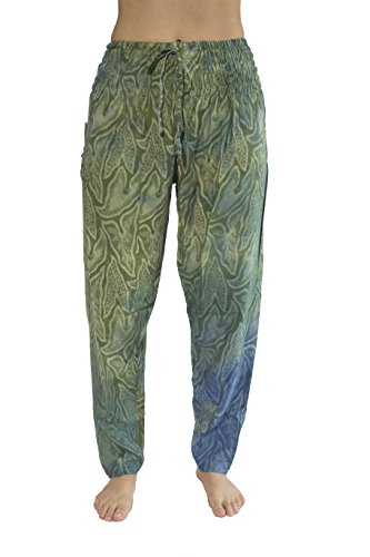 Pi Yoga Pants Women's Boutique Lounge and Bohemian Yoga Pants, Petite Straight Leg (Stretches From US Size 0-10, Ideal For Under 5'2) - Mystical (Straight Leg Crop Yoga Pant)