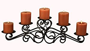 Tripar Keller Pillar Candle Holder, Metal Centerpiece Display