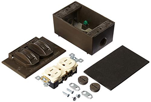 Hubbell 5839-7WRTR BRZ RECEPTACLE KIT, Bronze