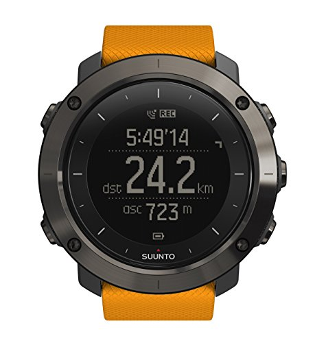 Suunto Traverse GPS Outdoor Hiking Watch with Versatile Navigation Functions and Wearable4U Ultimate Power Pack Bundle (Amber) by Wearable4u (Image #1)