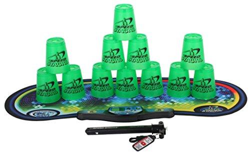 SPEED STACKS Competitor - Metallic Green w/ Voxel Glow Mat by Speed Stacks