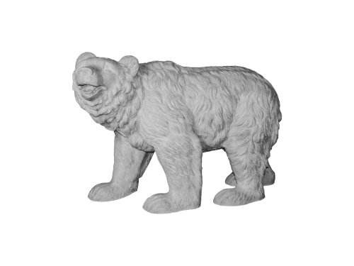 Amedeo Design ResinStone 1400-16G Happy Bear, 36 by 12 by 24-Inch, Lead Gray (Fiberglass Furniture Patio Vintage)