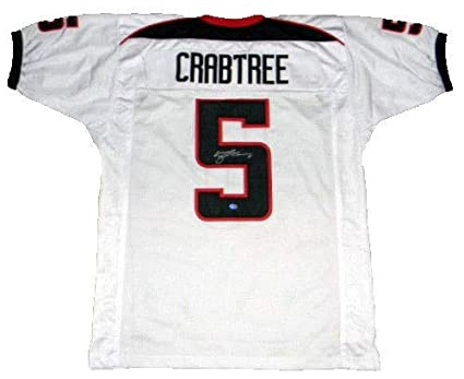 new product 661d5 02548 Michael Crabtree Autographed Signed Texas Tech Red Raiders ...