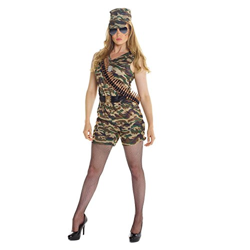 Army Women Costumes (Womens Sexy Army Camo Combat Costume Costume)