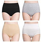 Amazon #DealOfTheDay: wirarpa Women's High Waisted Cotton Underwear Ladies Soft Full Briefs Panties Multipack