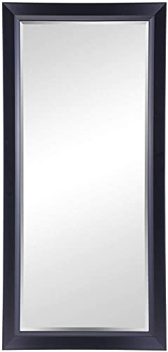 Naomi Home Framed Bevel Leaner Mirror Black 66 x 32