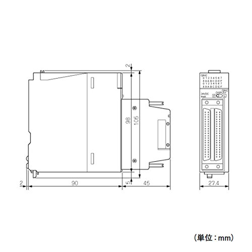 MITSUBISHI ELECTRIC QX42-S1 Input Modules (DC positive common (sink))(64 Points) NN by Mitsubishi Electric (Image #1)
