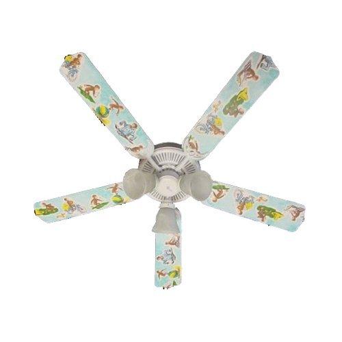 Ceiling Fan Designers Ceiling Fan, Curious George Monkey, 52