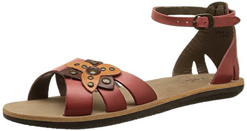 Kickers Spartwin, WoMen Ankle Strap Sandals Red - Rot (4)