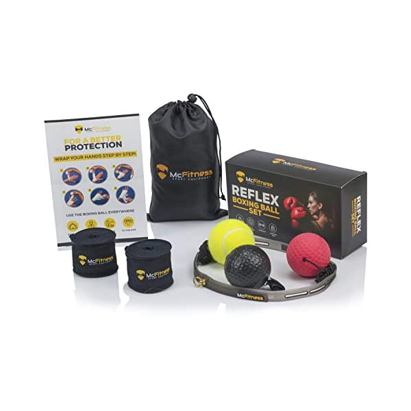 McFitness-Boxing-Punch-Ball-Reflex-Speed-Ball-Boxing-Headgear-MMA-Gear-and-Boxing-Equipment-for-Training-For-Men-Women-and-Kids-All-Ages