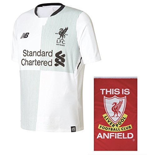 Liverpool FC Away 2017-2018 New Balance Jersey + Free 'This is Anfield' Flag