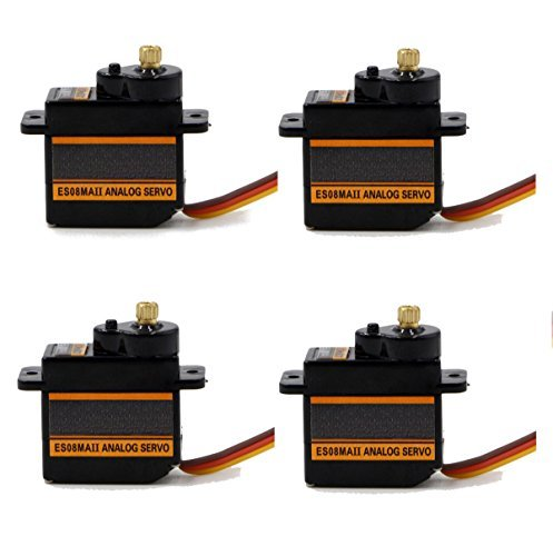 RioRand ES08MA 9g Mini Metal Gear Servo Upgrade mg90s for trex align 450 rc helicopter E (4 Pcs)