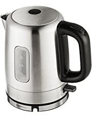 Amazon Basics Stainless Steel Portable Fast, Electric Hot Water Kettle for Tea and Coffee