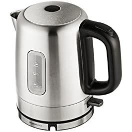 Amazon Basics Stainless Steel Portable Fast, Electric Hot Water Kettle for Tea and Coffee, 1 Liter, Silver