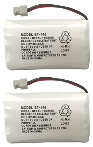 Uniden BBTY0504101 Model BT446 Nickel Metal Hydride Rechargeable Cordless Phone Batteries (Pack of 2) for use with T94 Series, TWX977 and WXI977 Uniden Cordless Phones