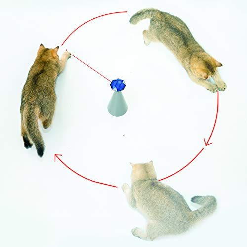 Friends Forever Interactive Laser Cat Toy - Automatic Rotating Laser Pointer for Cool Cats, Electronic Toys for Stimulating Exercise, Battery Powered Auto Lazer, 3 Speed Mode 4