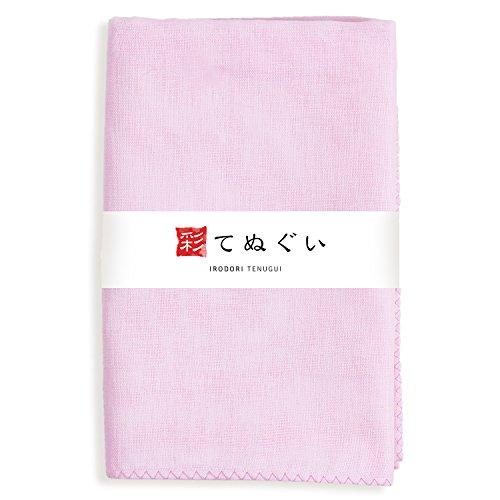 Nice KOMESICHI Irodori Tenugui Japanese Plain Gauze Hand Towel Pink hot sale