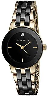 Anne Klein Women's AK/1610BKGB Diamond Dial Gold-Tone and Black Ceramic Bracelet Watch (B00I7LNIJE) | Amazon Products